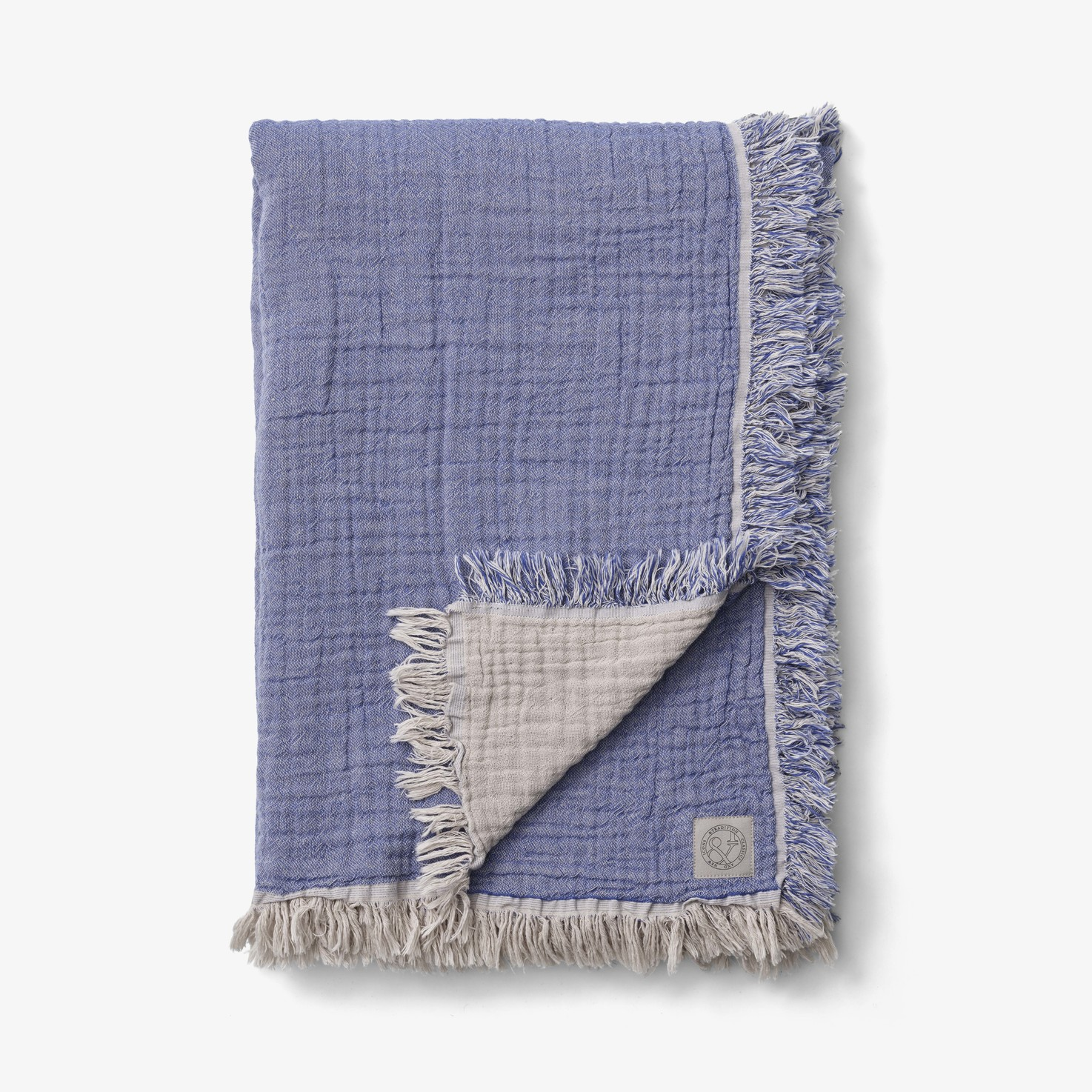 &Tradition Collect Throw SC33 Cotton Plaid Cloud & Blue