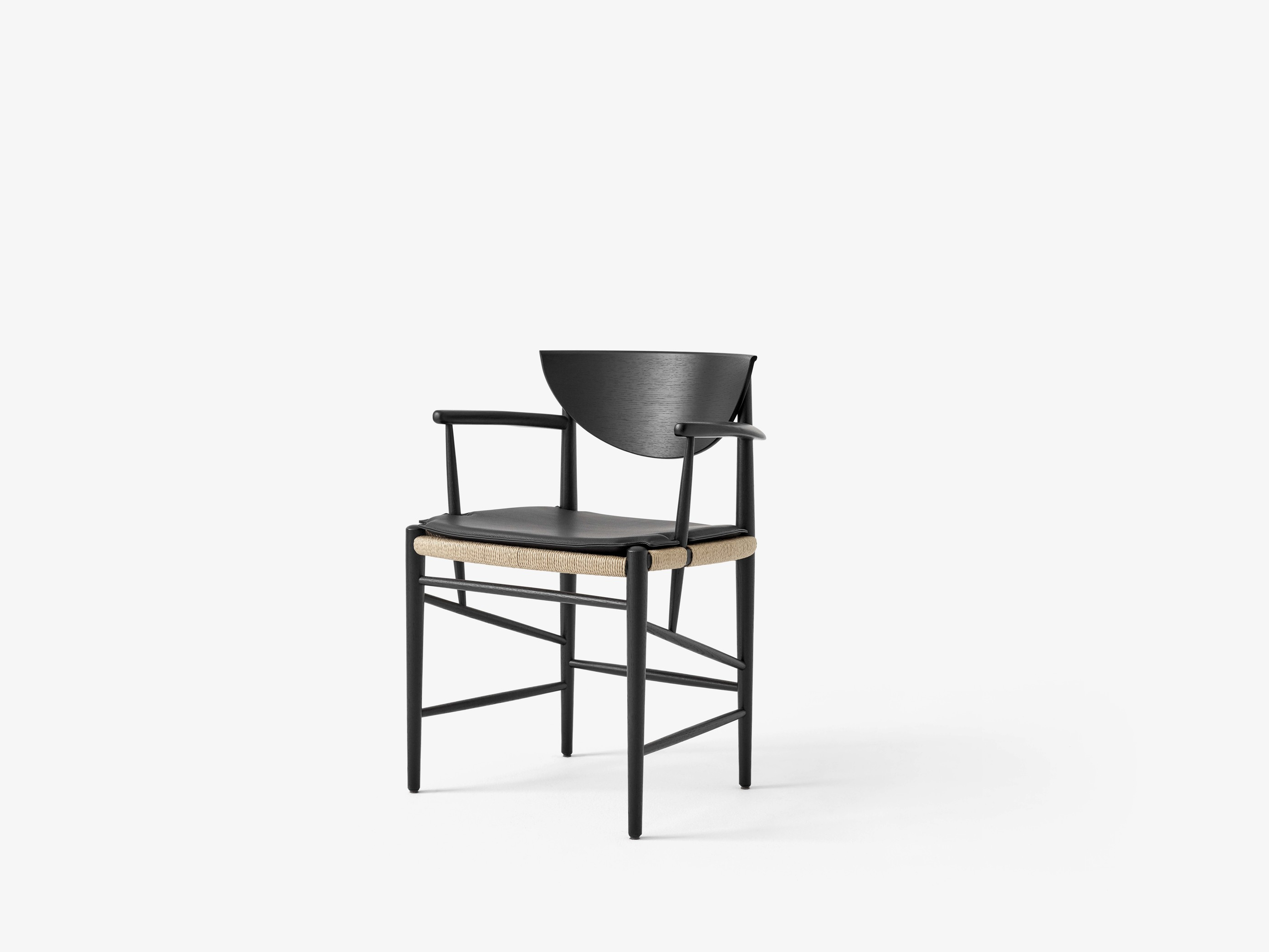 &Tradition Drawn HM4 stoel met armleuningen geolied eiken