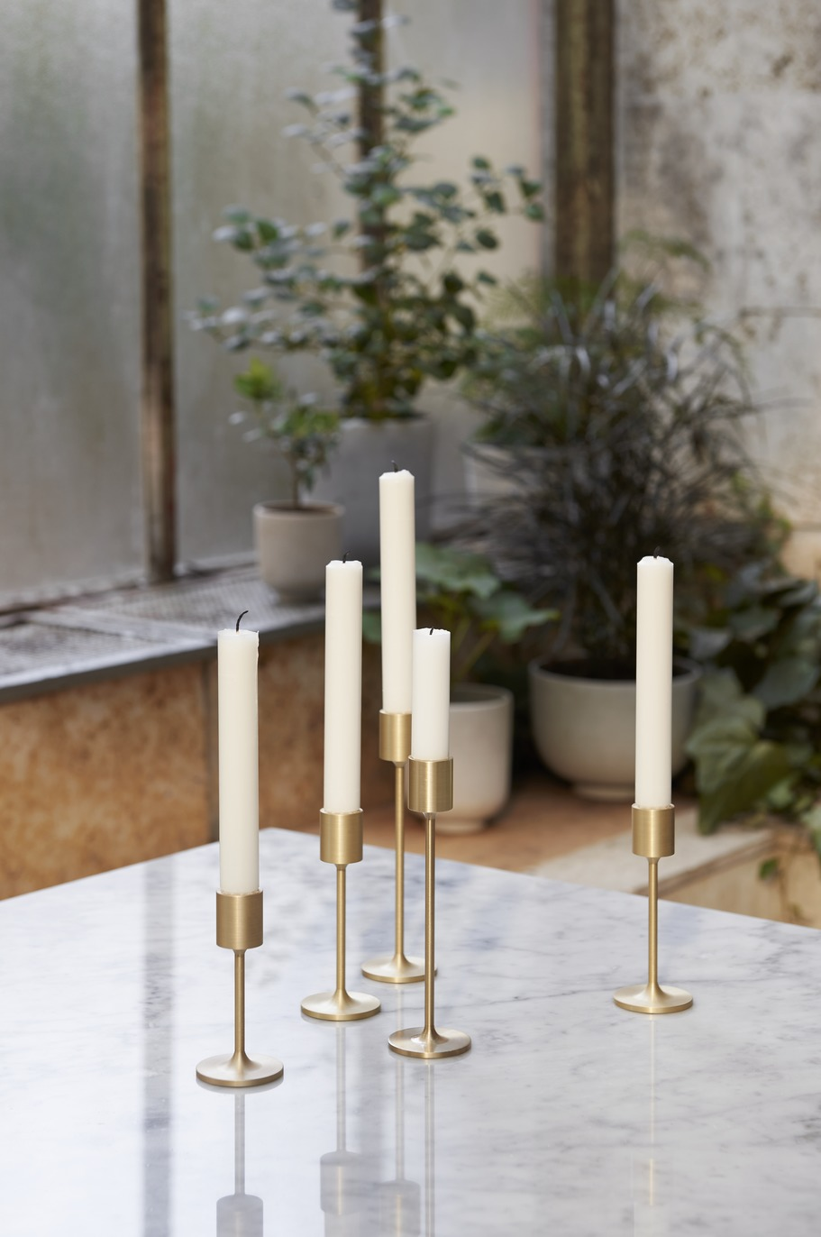 &Tradition Collect Candleholder SC59 Brass H: 18 cm
