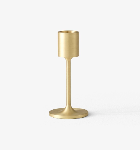 &Tradition Collect Candleholder SC57 Brass H: 11 cm