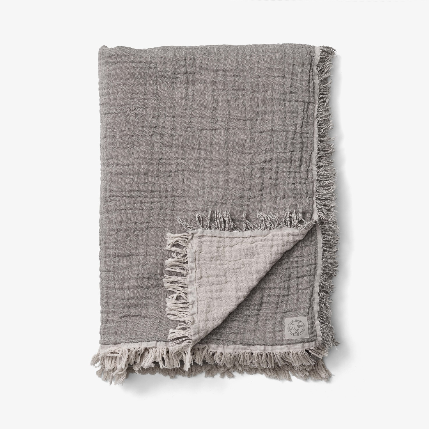 &Tradition Collect Throw SC33 Cotton Plaid Cloud & Slate
