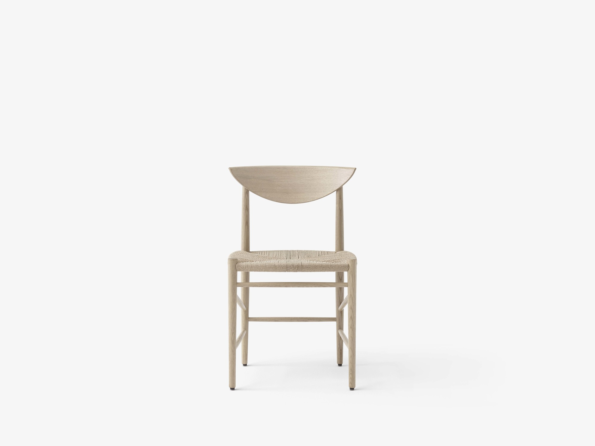 &Tradition Drawn HM3 stoel zonder armleuningen geolied eiken
